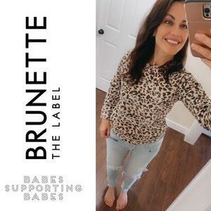 NWT Brunette the Label Leopard Uplifting Babes